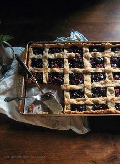 Cherry Slab Pie | une gamine dans la cuisine