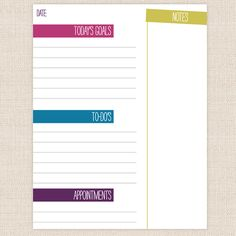 Free To-Do/Appointment List {printable}