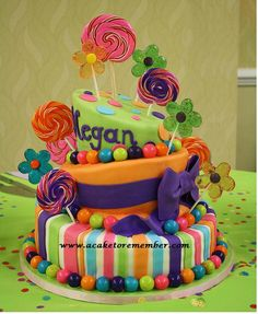 A Cake To Remember VA: A Candy Cake and A Candy Shop, by Karin Buntin.