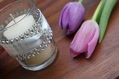 Pure Elegance Diamond Wrapped Votive Candle Holder. $4.25, via Etsy.