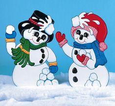 Snowball Fight Pattern Woodcraft Pattern