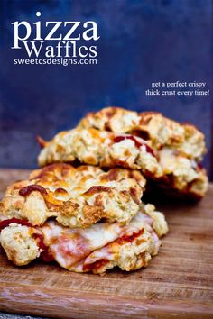 pizza waffles at sweetcsdesignscom - this is such a delicious and fun way to make pizza!