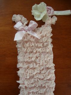 Adorable Ruffle Petti Romper Pale Pink, Ivory or Chocolate Brown ONLY $25.00