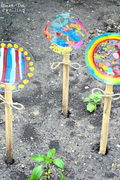 Painted Garden Flowers {create memories with kids} - The Girl Creative