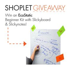 #WIN an EcoStatic Inc Slicky Notes and Slicky Boards Beginners Kit! Organizing your notes just got greener! Repin, Follow and leave us a comment about how you keep it green!