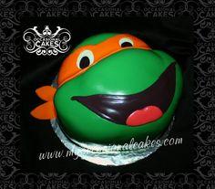 TMNT Michaelangelo cake occasion cake, michaelangelo cake, uniqu cake, michael cake