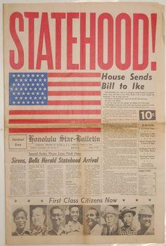 Hawaii Statehood - Honolulu Star-Bulletin  $395