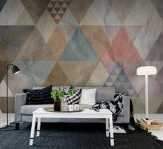Quadrangle wall murals - wallpaper - | Rebel Walls