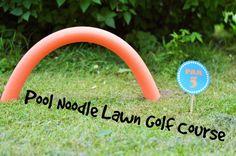 diy summer pool noodle lawn golf tutorial