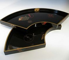 Japanese lacquer tea trays at www.Jcollector.com