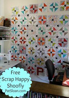 Pat Sloan Scrap Happy Shoofly quilt along - free pattern