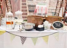 Decoración de estilo Industrial para mesa de boda - matrimonio