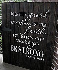 strong, faith, bears, garden gates, craft idea, boy rooms, inspir, quot, corinthian 1613