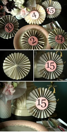 DIY Pinwheel Table Numbers