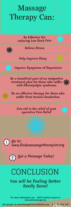 what can massage therapy do for you
