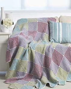 Mitered Blanket #4752 by Bernat Design Studio