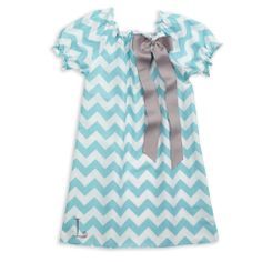 Aqua Chevron Charlotte Dress – Lolly Wolly Doodle