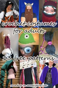 Crochet Costumes for Adults! - free pattern roundup on mooglyblog.com