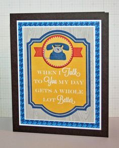 Talk To You Card by Stephanie Klauck using Jillibean Soup's Game Day Chili paper and pea pod parts (via the Jillibean Soup blog).