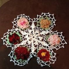 backward rose doily crochet pattern