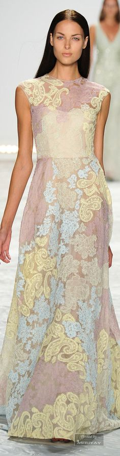 Monique Lhuillier.Spring 2015.