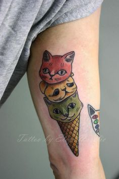 Tattoos on pinterest lion king tattoos leg tattoos and for Tattoo of ice cream cone on face