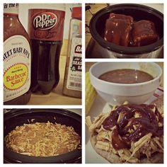 crock pot, barbequ pull, sandwich, bbq sauces, pull pork, crockpot recipes, pepper, root beer, pulled pork