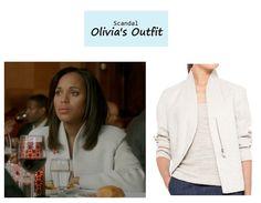 "On the blog: Olivia Pope's (Kerry Washington) white structured jacket | Scandal - ""The Fluffer"" (Ep. 316) #tvstyle #tvfashion #outfits #fashion #gladiators"