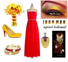 Iron Man Bridesmaid...I know a girls who would love to wear this...aka JESSICA STANCIL.