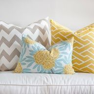 grey and yellow family room with aqua accent and black | grey yellow turquoise bedrooms - Google Search