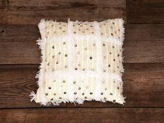 Hand-Woven Moroccan Wedding Blanket Pillow from Genevieve Gorder