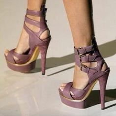 Gucci shoe addict |2013 Fashion High Heels| gucci, fashion shoes, style, purple, colors, sandals, closet, heels, girls shoes