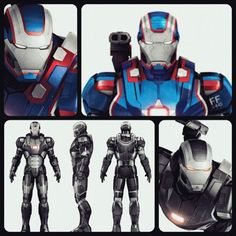 Iron Man 3 - Iron Patriot War Machine Promo Art