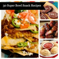30 Super Bowl Snack Recipes for the Big Game!!