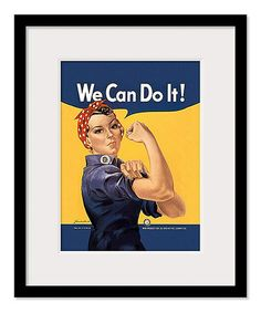 Rosie 'We Can Do It' Framed Print normally $ 69 now $50 #retro #girlpower