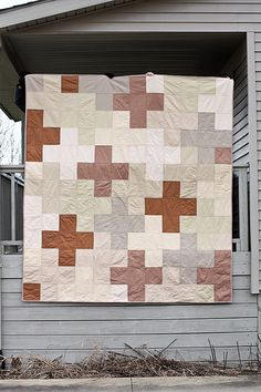 Giant Plus Quilt - with bigger plusses. Dimensions provided.