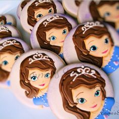 Sofia the First cookies by Emma's Sweets
