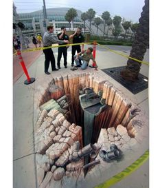 Pavement art and 3d Illusions by Kurt Wenner (1)