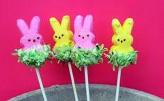 Easter Grass Peeps Pops