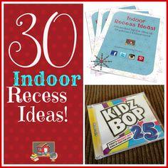Classroom Freebies: 30 Indoor Recess Ideas!