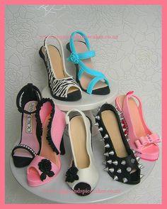 Fondant Heel Shoes & Gumpaste Stilettos http://www.sugarandspicecakes.co.nz/