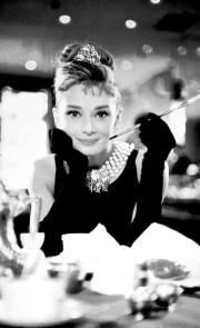 Audrey Hepburn en el filme «Desayuno con diamantes»