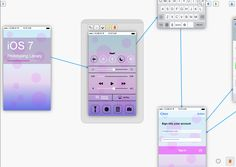 First glimpse of the new iOS 7 app prototyping library from FluidUI.com