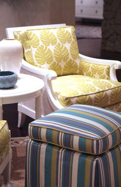 I Need this chair!  House of Turquoise: Ivory Key + Tommy Bahama Home