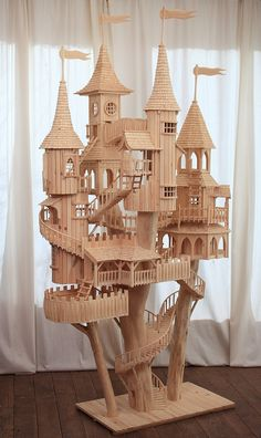 miniatur, craft, castl, doll hous, rob heard, tree houses, art sculptures, bough hous, wooden art
