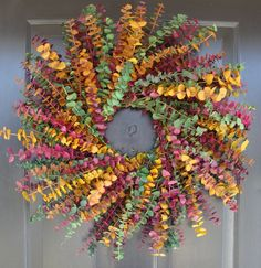Eucalyptus Wreath- Spring Wreath- Dried Floral Wreath- Wall Decoration- Natural Home Decor on Etsy, $60.00