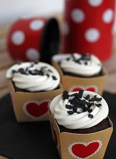 liquorice and chocolate cupcake