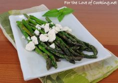 Asparagus with Lemon and Feta | fortheloveofcooking.net