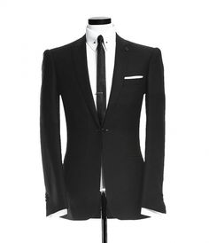 one button peak lapel jetted pocket jacket with a link