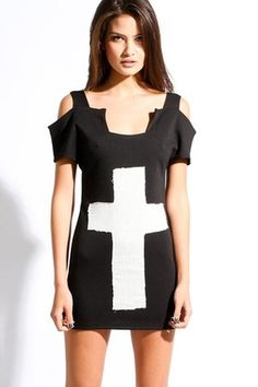fashion, dress black, women cross, dimepiec design, cross fit, dresses, fit dress, crosses, crossfit